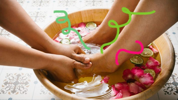 Escalda-pés relaxante pós-Carnaval – Você Merece
