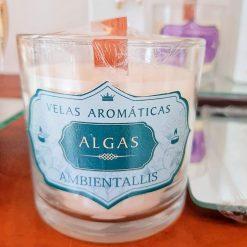 Vela Perfumada Ambientallis 100% vegana - Aroma: Algas