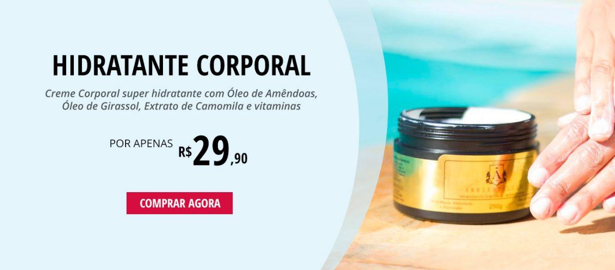 Hidratante Corporal Ambientallis Aromas com Óleo de Amêndoas, Óleo de Girassol e Extrato de Camomila - 250g