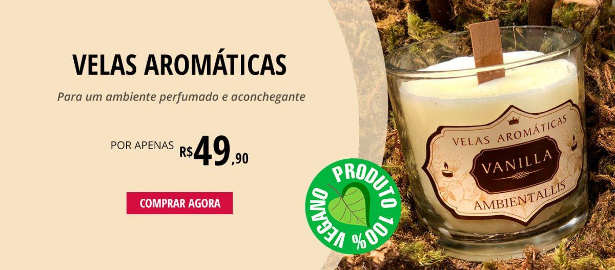 Vela Aromática / Vela Perfumada Ambientallis - 100% vegana