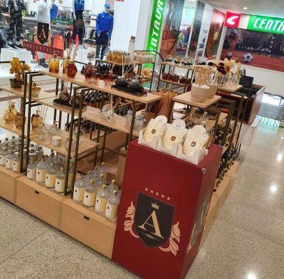 Quiosque Ambientallis Aromas - Minas Shopping - Belo Horizonte MG. Linha completa de aromatizante de ambiente, difusor de aromas, velas perfumadas, óleos essenciais, água de passar, essências e mais