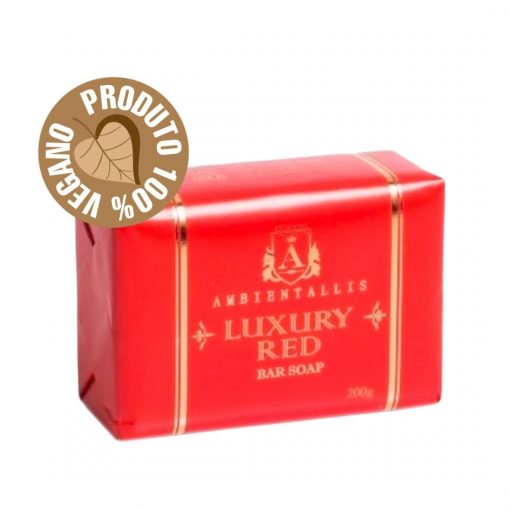 Sabonete Vegano - Linha Luxury 100% Natural RED 200g